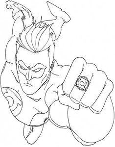 cool green lantern comic book coloring page | pop art | pinterest ... - Green Lantern Logo Coloring Pages