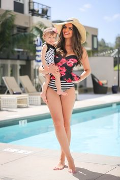 Matching swimsuits for mom & baby via @irinabond | Use code 'irinabond15' for 15% off your order on albionfit.com until 3/31