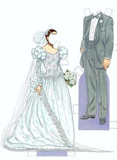 Miss Missy Paper Dolls: Bride and Groom Fashion Paper Dolls