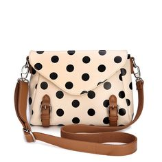 Polka Dot Messenger Bag.