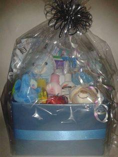 Item number [TBA] - Blue baby basket  For more details, please visit our facebook page: www.facebook.com/popitinaboxbusiness