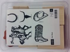 Stampin' Up! OUT WEST Cowboy Boot Hat Bull Horseshoe Rodeo Wild Horse RARE NEW #StampinUp