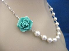 Hey, I found this really awesome Etsy listing at https://www.etsy.com/listing/95838463/bridesmaid-jewelry-aqua-beauty-rose-and