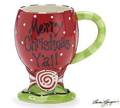 Blueberry Lane - Charming Merry Christmas Y'all Mug, $15.95 (http://shop.blueberrylanestore.com/charming-merry-christmas-yall-mug/)