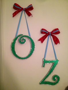 Wizard of Oz hanging letters (hang on fence) Wizard Of Oz Hanging, Wizard Of Oz Decor, Wizard Oz, 4th Birthday, Birthday Parties, Birthday Ideas, Hanging Letters, Land Of Oz, Wicked
