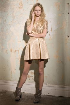 Rising Gold Lace T Dazed Garland Brocade Skirt In Concert   ZIMMERMANN Gold  Lace a06733e23