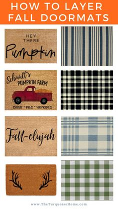 You Will Love & How to Get the Layered Look How to get the layered doormat look! Fall doormat combinations sure to ramp up the autumn curb appeal!How to get the layered doormat look! Fall doormat combinations sure to ramp up the autumn curb appeal! Front Door Mats, Front Door Decor, French Home Decor, Easy Home Decor, Porch Decorating, Decorating Your Home, Decorating Ideas, Interior Decorating, Interior Design