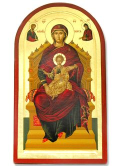 Enthroned - Saydnaya Icon of the Theotokos  -  Image result for holy mother orthodox icons