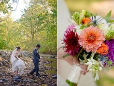 More dahlia and woodsy elements for a Janie wedding