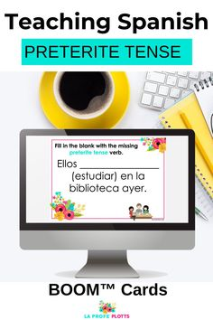 Are you looking for a fun, interactive way for your students to practice regular and irregular verbs in the preterite tense in a digital format? These Boom Cards are great for distance learning or for use in you Spanish classroom. Check them out! #TeachingSpanish #SpanishPreteriteTenseVerbs #SpanishBOOMCards #DistanceLearning