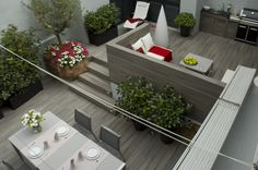 Walls, floors and cabinets made with Fiberon Horizon Castle Gray composite decking