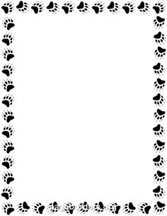 printable black and white paw print border. use the border in, Powerpoint templates