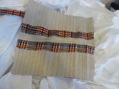 Stiftetasche. Die breite der einzelnen Fächer kann man ändern, da sie einzeln genäht wurden.