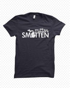 Michigan Smitten  madetoorder tshirt by HandmadeEscapade on Etsy, $16.00