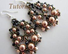 Tutorial PDF cuentas earrings_charmed_heatrs_ por BeadsMadness