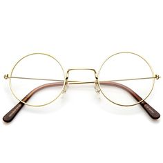 a519bf2e6ca Classic Small Metal Frame Slim Temples Clear Lens Round Eyeglasses 44mm