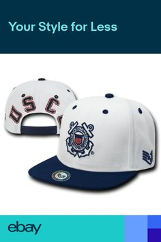 US Coast Guard USCG Vintage Flat Bill Military Retro Baseball Cap Hat Caps  Hats c75ac9bc2d76