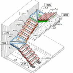 Excellent inspiring ideas to consider - Building stairs - Home Stairs Design, Home Room Design, Railing Design, Interior Stairs, Metal Stairs, Concrete Stairs, Staircase Drawing, Types Of Stairs, Stair Plan