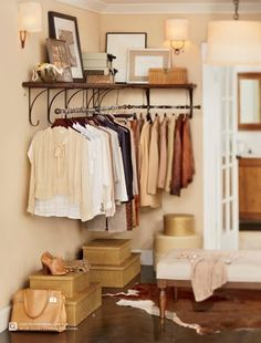 make your bedroom your closet