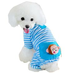 Pet Pajamas Sweatshirts, Mosunx(TM) Puppy Dog Pajamas Stripes Jumpsuits Coat Cute Clothes >>> Learn more by visiting the image link. (This is an affiliate link and I receive a commission for the sales)