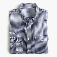 69f7fbab617 J.Crew - Slim lightweight oxford shirt in summertime gingham Gingham Shirt