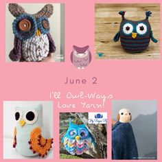 Zoo Blog Hop Day 2 – Owl Crochet Patterns – My Fingers Fly Easy Crochet Baby Hat, Love Crochet, Crochet Toys, Owl Crochet Patterns, Crochet Designs, Knitting Designs, Different Stitches, Softies, Plushies