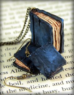 Beloved Book Necklace and Earrings Set, jewelry, handmade. $40.00, via Etsy.