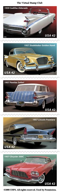 Fins & Chrome - 2008 US Stamp set