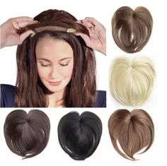 US$ 45.98 - Magic Hair Topper Clip - m.57diy.com Wavy Hair, Her Hair, Clip In Hair Pieces, Natural Hair Styles, Short Hair Styles, Creamy Blonde, Hair Toppers, Pelo Natural, Synthetic Hair Extensions