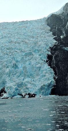Blackstone Glacier - Massive Blackstone Glacier at Prince William Sound…