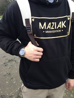 Shot of the Limited Edition Golden Maziak Hoodie