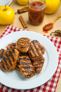 Apple BBQ Pork Tenderloin Medallions