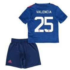 Manchester United Drakt Barn 16-17 Antonio Valencia 25 Borte Drakt Kortermet   #Billige  #Fotballdrakter
