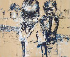Children Of Apartheid - Painting by Michaela Rinaldi | StateoftheArt.co.za