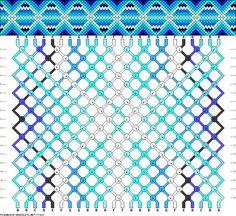 Muster # 77020, Streicher: 24 Zeilen: 18 Farben: 7