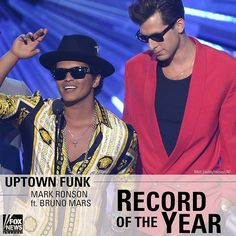 JUST IN: Uptown Funk wins Record of the Year. #GRAMMYs by foxnews