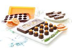 Turrón de chocolate con naranja confitada | Velocidad Cuchara A Food, Panna Cotta, Waffles, Easy Meals, Menu, Pudding, Tasty, Cooking, Breakfast