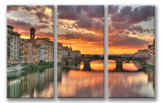 CANVAS ART - Florence Italy Sunset 3 Panel #CanvasGeeksPremiumProduct
