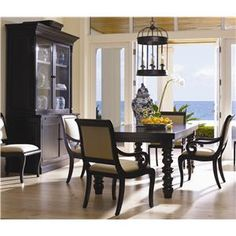 Superb Drexel Heritage® Postobello Home   Dark Walnut 5 Piece Wellsley Dining Table  U0026 Chair Set