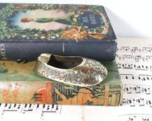 Cendrier de Brass vintage de chaussure. Cendrier de chaussure miniature.
