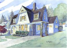 Shingle style house plans by Maine Coast Cottage Co. offering blueprints reminiscent of the New England coast - Bar Harbor, Nantucket, Kennebunkport, Martha's Vineyard, Cape Cod Nantucket Style Homes, Nantucket Cottage, Cape Cod Cottage, Maine Cottage, Maine House, Dutch Colonial Homes, Colonial House Plans, Cottage Style House Plans, Beach Cottage Style