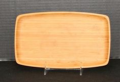 Bamboo Appetizer Cheese Serving Tray 10 inches New Rectangular Contemporary #Bambu