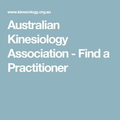 Australian Kinesiology Association - Find a Practitioner