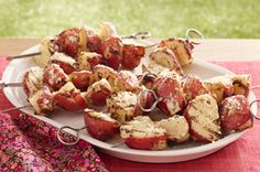 Easy Potato Skewers recipe, as featured in the latest food & family magazine