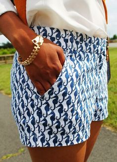 The Vogue Fashion: J Crew Sea Horse Shorts