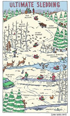 Ultimate Sledding poster from Grant Snider