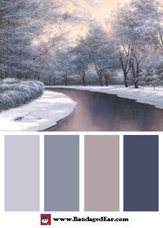 Color Palette: Winter Sunlight by Diane Romanello