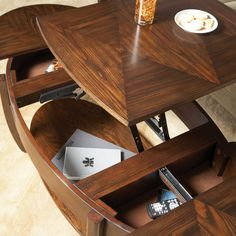 Hammary Concierge Oval Lift-Top Coffee Table - Coffee Tables at Coffee Tables Galore