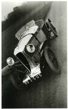 """She beat the fastest man at the Shelsley Walsh Speed Hill Climb by twelve seconds. And she holds the record for the longest drive by a woman - all the way to Liverpool and back with only her pet dog and a revolver for company."" (I Stopped Time)  Bibi in my Amil Car Grand Sport, Paris - 1926 - Jacques-Henri Lartigue"