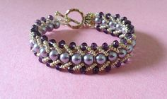 How to make a beautiful and easy pearl bracelet